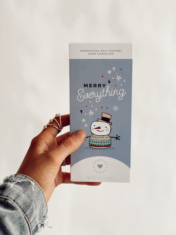 MERRY EVERYTHING CARD + CHOCOLATE BAR