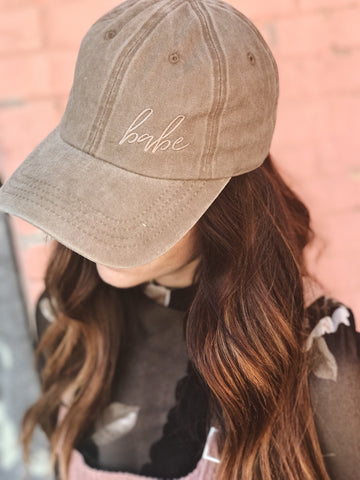 BABE EMBROIDERED HAT