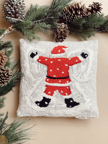 SANTA SNOW ANGEL PILLOW