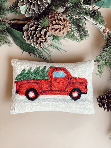 TREE ON TRUCK PILLOW