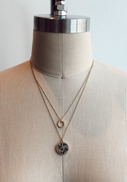 TOUCHSTONE LAYERED NECKLACE