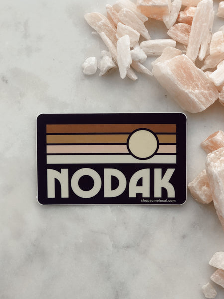 NODAK RECTANGLE SUNSET STICKER
