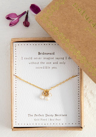 BRIDESMAID PEARL PERFECT NECKLACE