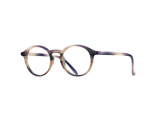 BRYCE BLUE LIGHT GLASSES - MARBLED GREY