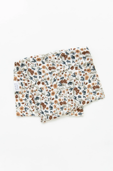 HARVEST FLORAL BURP CLOTH