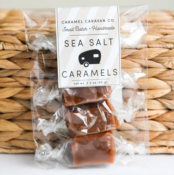 SEA SALT CARAMELS - 4 PC. BAG