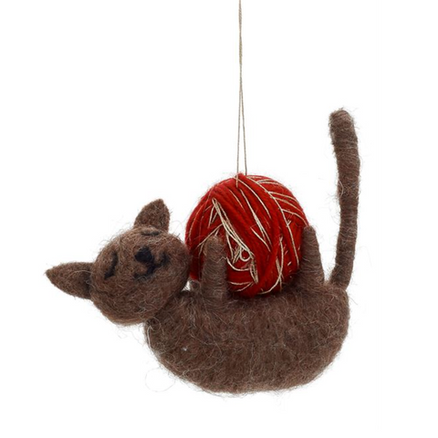 WOOL CAT ORNAMENT
