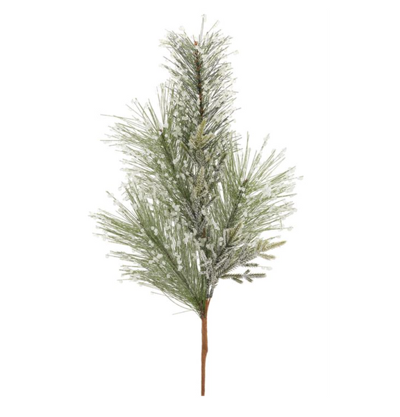 ICED LONG NEEDLE PINE SPRAY