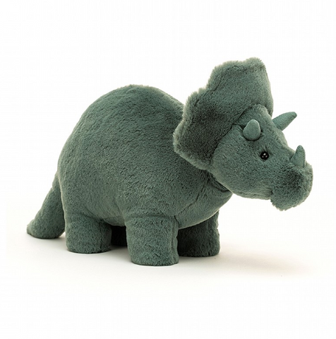 FOSSILLY TRICERATOPS PLUSH 7""