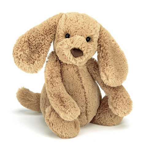 BASHFUL TOFFEE PUPPY PLUSH 12""