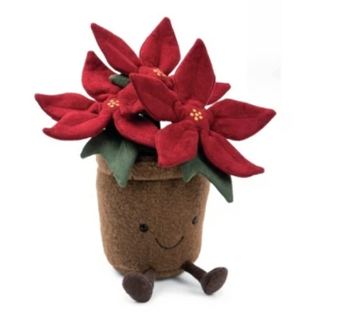 POINSETTIA PLUSH 12""