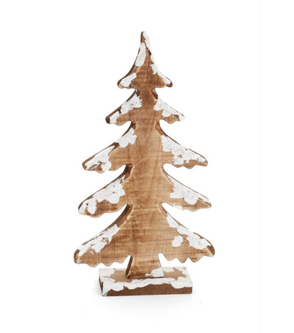 WOOD SNOWY TREE DECOR