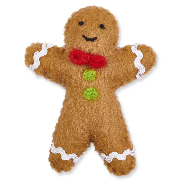 GINGERBREAD MAN CAT TOY