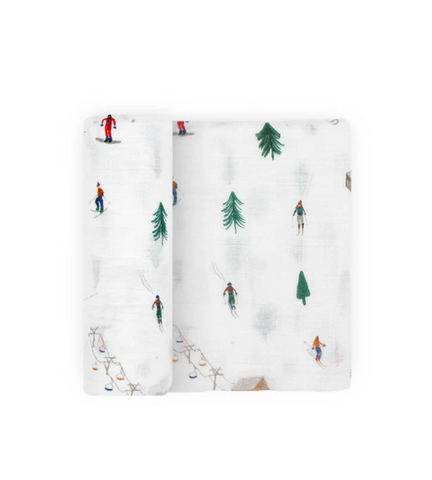 COTTON MUSLIN SWADDLE · POWDER PARTY