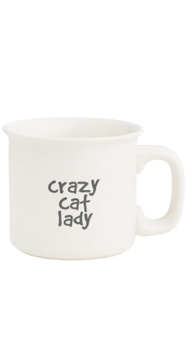 CAT LADY ENGRAVED MUG