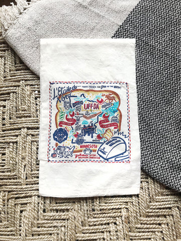 EMBROIDERED MN DISH TOWEL