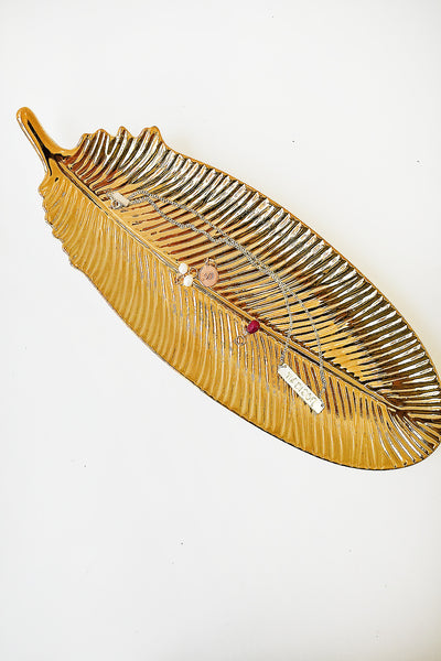 Golden Feather Dish