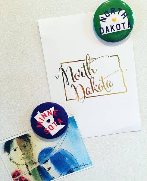 ND BUTTON MAGNET