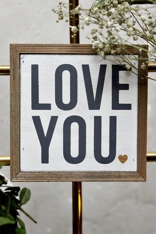 LOVE YOU BARN BOX SIGN