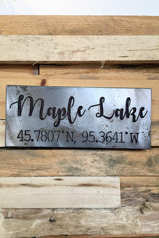 MAPLE LAKE SCRIPT LEGENDARY SIGN • PRE-ORDER