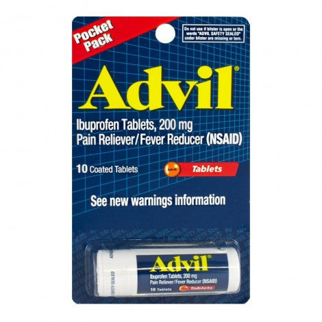 Advil® Pain Reliever and Fever Reducer Tablets - 10 Count - MyTravelPaQ