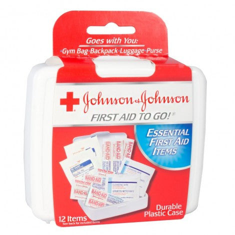 Johnson & Johnson First Aid Kit, 12 Piece Kit - MyTravelPaQ