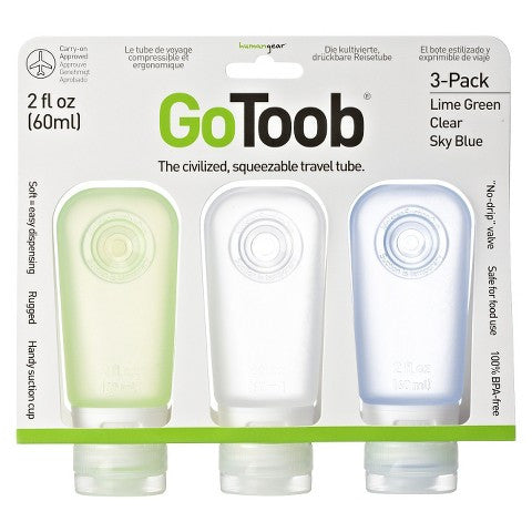 Humangear GoToob 3 Medium Travel Containers (2fl.oz) - MyTravelPaQ