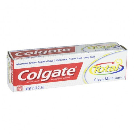 Colgate Total Clean Mint Toothpaste, 0.75 oz. - MyTravelPaQ