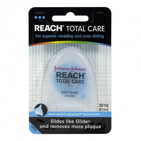 Reach Total Care Mint Floss 30 yd. - MyTravelPaQ