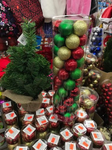 60mm Shatterproof Decorative Christmas Balls - 50 ct - Red / Gold / Green