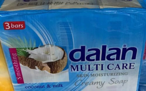 3-Pack Dalan Coconut & Milk Cream Soap Skin Moisturizing Bar 270g