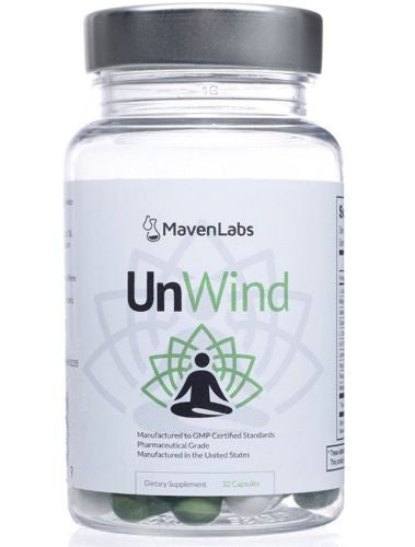 UnWind - All-Natural Non-Habit-Forming Sleep & Relaxation Support Supplement