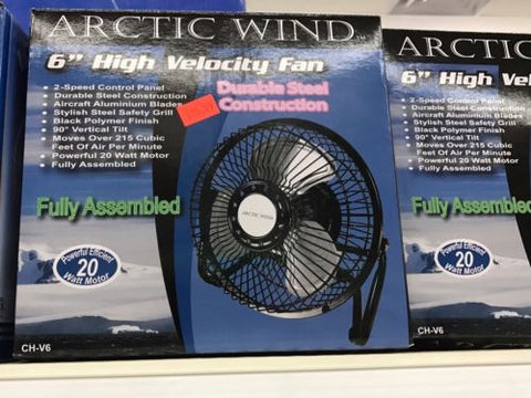"Arctic Wind - 6"" High Velocity Fan"