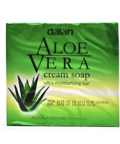 3-Pack Dalan Aloe Vera Cream Soap Moisturizing Bar 270g