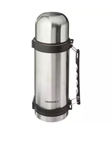 2401 Uniware Stainless Steel 1 Liter Travel Vacuum Flask New
