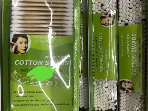 2 Pack - Cotton Swabs Q-tip Wooden Sticks 300ct