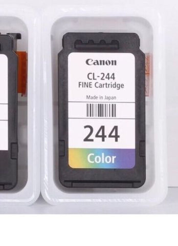 Canon CL-244 Color Ink Cartridges - Original Ink In Retail Package