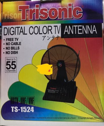 TRISONIC TS-1524 INDOOR DIGITAL TV HDTV UHF VHF ANTENNA POWERFULL by Trisonic