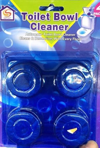 4 Blue & Bleach Toilet Bowl Tank Cleaning Tablets Cleaner BEST SELLER