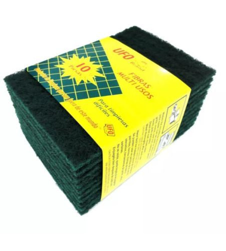 "10 pc Multi Purpose Scrubbers (Abrasive pads) ,Size: 5-3/4"" x 4"" x 3/16"""