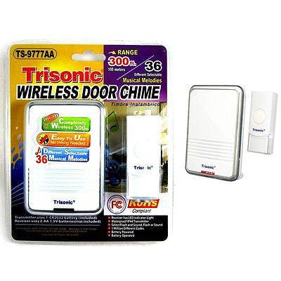 Trisonic Wireless Digital Door Chime 36 Musical Melodies
