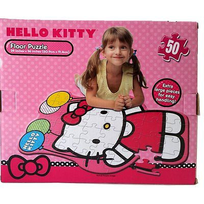 50 Piece Extra Large Hello Kitty Floor Puzzle Activity Gifts for Girls Makes 3ft