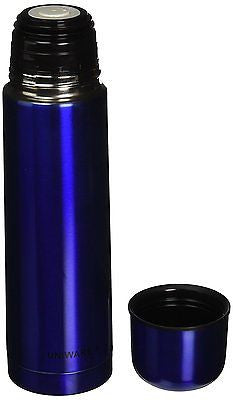 Uniware Stainless Steel Vacuum Flask Coffee Bottle Thermos Container Blue, 500ML