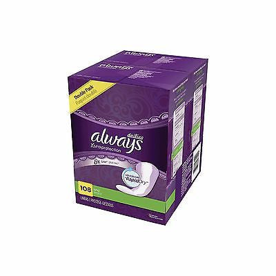 Always Xtra Protection Daily Liners, 108 ct - LeakGuard+RapidDry - MyTravelPaQ  - 1