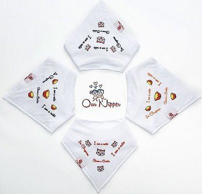 Baby Bandana Drool Bibs from Our Nipper - 4-Pack Absorbent Cotton with Snaps - MyTravelPaQ  - 1
