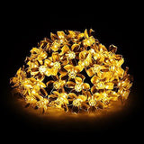 Solar String Light, 50LED 23FT Outdoor Waterproof Flower Light Warm White - MyTravelPaQ  - 1