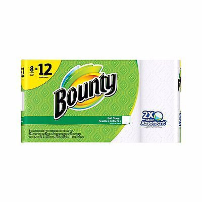 Paper Towels Roll Giant Bounty Select-A-Size White 8 Pack Absorbent - MyTravelPaQ