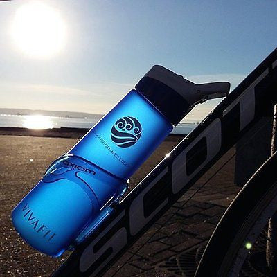 Sports Water Bottle (24 Oz)- Leakproof lid with straw, 1-click Open, BPA Free - MyTravelPaQ  - 1