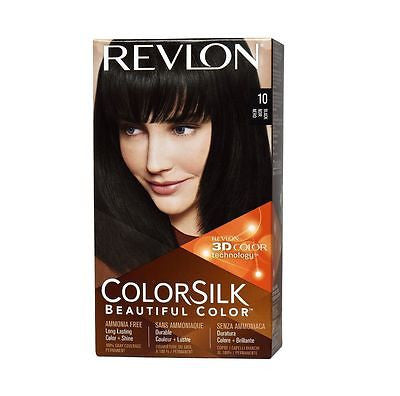 REVLON ColorSilk Haircolor Permanent-Black (10/1N) - 2 Pack
