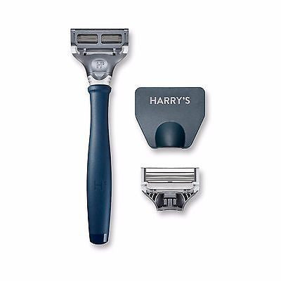 Harry's Men's Razor with 2 Razor Blades - Navy Blue - MyTravelPaQ  - 1